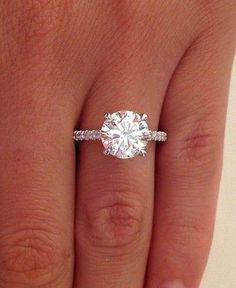 2.38 ct round cut d si1 diamond solitaire engagement ring 14k white gold / http://www.himisspuff.com/engagement-rings-wedding-rings/37/