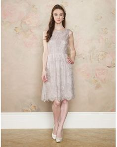 Beatrice Lace Dress Nude, Monsoon