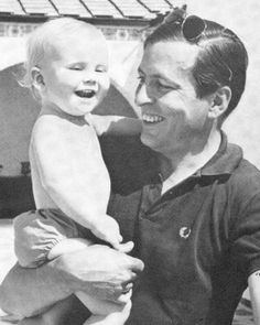 Prince Willem-Alexander with his beloved father, Prince Claus.