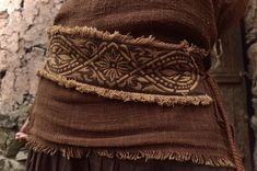 FREE SHIPPING Earthy Brown Belt Embroidery Ethnic Tribal | Etsy