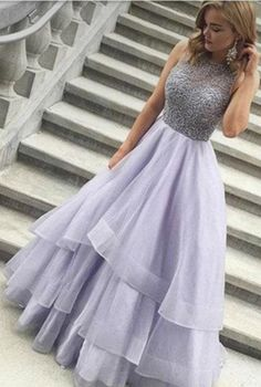 Prom Dresses For Teens, Beading Tiers Ball Gown Organza Prom Dresses Lavender Prom Dress, Beaded Prom Dress, Senior Prom Dress, Prom Dress for Teens Short prom dresses and high-low prom dresses are a flirty and fun prom dress option. Prom Dresses 2017, Dance Dresses, Prom Gowns, Pageant Dresses For Teens, Formal Gowns, Gowns 2017, Wedding Dresses, Dress Formal, Long Gowns