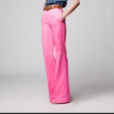 Pink wide-legged trousers