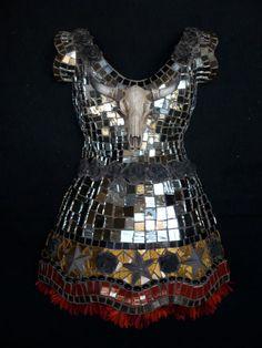 COWGIRL a mosaic dress by mosaicsbysusan on Etsy, $880.00