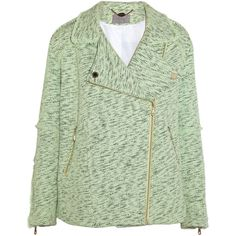 Mulberry Oversized cotton-tweed biker jacket ($3,000) ❤ liked on Polyvore