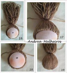 Como fazer cabelo rabo de cavalo em boneca