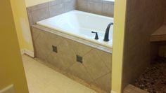 Bathtub tile work.