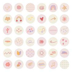 Hight Light, Social Media Icons, Instagram Highlight Icons, Instagram Story, Bujo, School, App Icon, Stickers, Ideas