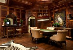 British Colonial Style Design Ideas, Pictures, Remodel, and Decor – page 80 – Game Room İdeas 2020 Dallas, Parlor Room, British Colonial Style, European Style, Interior Design Elements, Design Interiors, Cigar Room, Tuscan Design, Tuscan Style