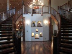 dual staircases - beautiful!