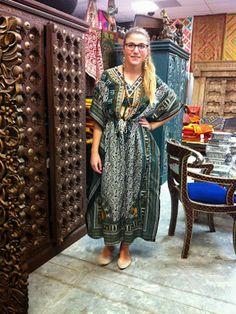 Bohemian Womens Cover Up Kaftan Dress: Bohemian House Dress Kimono Caftan