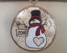 Our First Christmas personalized Snowman by BurnwoodCreations