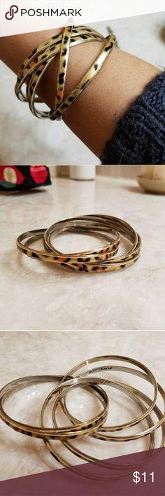 Betsey Johnson bangles Gold colored animal print bangles Betsey Johnson Jewelry Bracelets