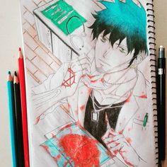 manga ''Todos tienen derecho a una muerte digna''. #draw #drawing #mydrawing #myart #anime #animedrawing #animeartist #mangadrawing #manga #mangaka #mangaboy #mangaart #heart #blood #mangalover #fanmanga #illustration #bluehair #greeneyes #tattoo #comic #mycomic #instamanga #instadraw #art #artist #piercing