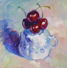 """""""With Cherries on Top"""" - Original Fine Art for Sale - © Carlene Dingman Atwater"""