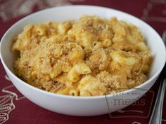 Pumpkin Macaroni and Cheese – Lunch Version