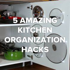 Kitchen Organization Hacks #organize #DIY #hacks #potsandpans