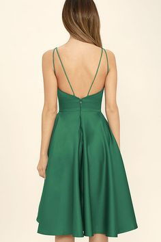 c38e9c4b9a Lovely Green Dress - Strappy Dress - Midi Dress - Fit and Flare Dress -   79.00