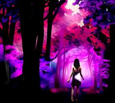 Forest scene via www.Facebook.com/PurpleIsWho
