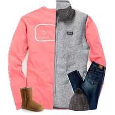 ew school by secfashion13 on Polyvore featuring Vineyard Vines, Patagonia, American Eagle Outfitters, UGG Australia and Smartwool