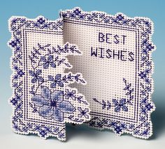 Blue Clematis Card 3D Cross Stitch Kit from The Nutmeg Company £8.25 - Past Impressions