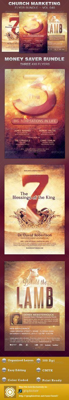 Church Marketing Flyer Bundle Vol 040 $11.00