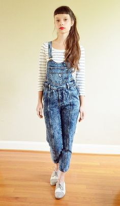 overalls are making a comeback! // vintage guess via @threadflip