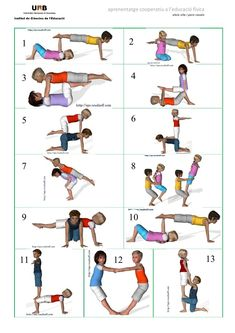 Bilderesultater for acrosport Kids Yoga Poses, Yoga For Kids, Exercise For Kids, Pe Activities, Physical Activities, Two Person Yoga Poses, Fitness Workouts, Yoga Posses, Family Yoga