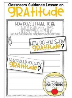 A classroom guidance lesson on the character education trait of gratitude. Use in the regular classroom or as a part of the school counseling program for through graders. Elementary School Counselor, Elementary Schools, Character Education, Physical Education, Guidance Lessons, Career Counseling, Social Skills, Gratitude, Classroom
