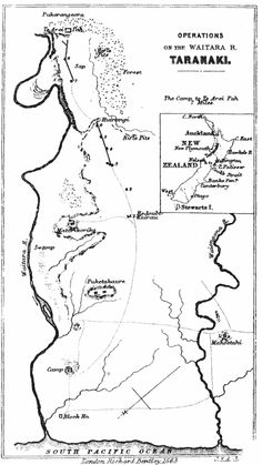 Map showing major North Taranaki engagements, drawn in 1863 by Sir JE Alexander. Alexander was an officer in the Artillery who later wrote extensive memoirs of his service in New Zealand. This Day in History: Mar 28,1860: First Taranaki War: The Battle of Waireka begins. http://dingeengoete.blogspot.com/