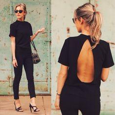 Love black on black!