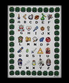 Alphabet according to Zelda