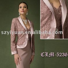 2014 Elegant  Sweetheart  Lace Mother of the bride Dresses Knee-length Matching Jacket  Custome Made
