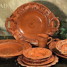Bring a taste of Tuscany to your dining experience with this rustic yet beautiful Baroque Italian Dinnerware!
