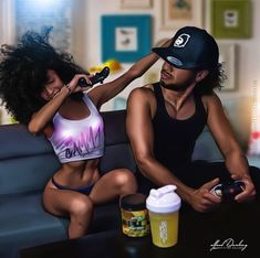 Black Love Art Relationships Fun 15 Ideas For 2019 Sexy Black Art, Black Love Art, Black Girl Art, My Black Is Beautiful, Black Girl Magic, Max Black, Black Couple Art, Art Couple, Black Couples