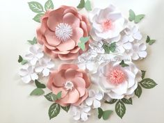Paper flower super mini backdrop/Paper flower wall/Wedding