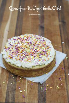 no sugar vanilla cake recipe plus VITAMIX GIVEAWAY - purelytwins