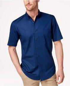 028448d09 Club Room Men's Stretch Moisture Wicking Solid Shirt, Created for Macy's &  Reviews - Casual Button-Down Shirts - Men - Macy's