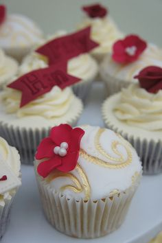 cup cakes...make it a coral flower though and silver swirls! :)
