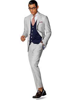 Suit Light Grey Plain Havana P4227i   Suitsupply Online Store
