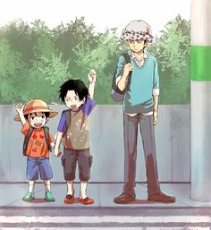 Luffy, Ace, and Law: I always forget this is their actual age difference!