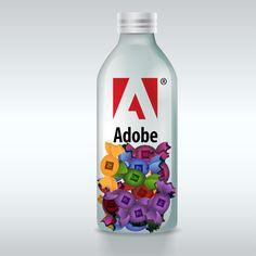 Adobe Candies Candies, Vodka Bottle, Adobe, Illustrations, Drinks, Food, Drinking, Beverages, Cob Loaf