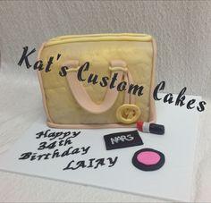 Gold MK Purse Cake