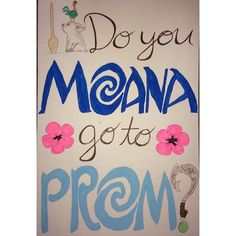 """29 Likes, 1 Comments - chrisline (@amiunlikeableyet) on Instagram: """"Some may say I'm a little extra #promposal #moana #bestfriend"""""""