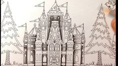 Part 1 - how to color a castle - coloring book enchanted forest - colore...