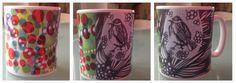 taza impresa con pinturas de izk