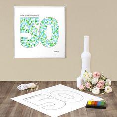 Geburtstagsprint 50 Geburtstag Ideen Fingerabdruck