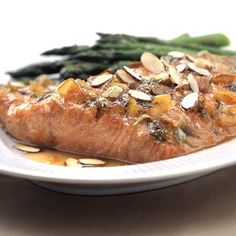 Salmon is the backdrop for this classic combination of orange, white wine, and fresh ginger. The dish takes a tasty new turn with five-spice powder. This fragrant blend of spices usually includes cinnamon, anise seeds or star anise, fennel, black or Szechwan pepper, and cloves.