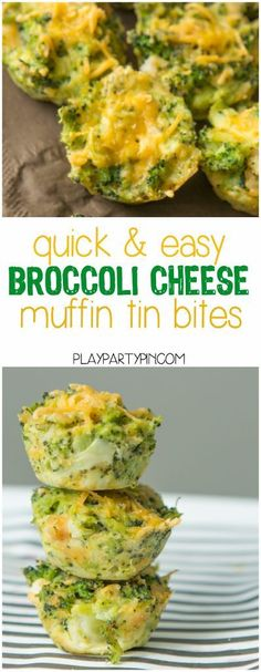 These broccoli cheese bites are great quick and easy appetizers a great healthy option for a brunch or party! These broccoli cheese bites are great quick and easy appetizers a great healthy option for a brunch or party! Baby Food Recipes, Cooking Recipes, Cheese Recipes, Muffin Recipes, Easy Recipes, Easy Broccoli Recipes, Mini Quiche Recipes, Easy Cooking, Diet Recipes