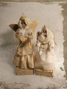 Vintagesavonette: Unendliche Weiten für geflügelte Wesen und deren Begleiter - Winged and Unwinged Christmas Folks