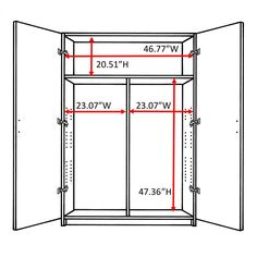 ClosetMaid in. H x 48 in. D Multi-Purpose Wardrobe Freestanding Cabinet in - The Home Depot Laminate Wall, Laminate Cabinets, Grey Laminate, White Storage Cabinets, Laundy Room, Free Standing Cabinets, Concealed Hinges, Corner Storage, Wardrobe Cabinets